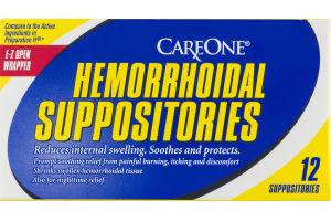 CareOne Hemorrhoidal Suppositories - 12 CT