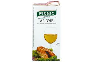 Вино 1л 13% бел/сух Алиготе Picnic т/п