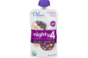 Plum Organics Mighty 4 Apple, Blackberry, Purple Carrot, Greek Yogurt, Oat & Quinoa