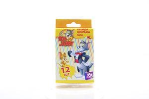 Крейда Tom and Jerry шкільна біла 12шт
