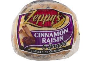 Zeppy's Bagels Cinnamon Raisin - 6 CT