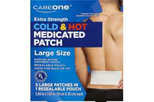 CareOne Extra Strength Cold & Hot Medicated Patch Large - 5 CT