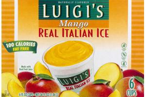 Luigi's Real Italian Ice Mango - 6 CT