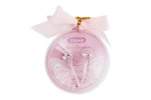 Наушники розовые YK04 Yookie 1шт