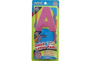 ArtSkills Quick Letter Pads Jumbo Neon Paper - 181 CT