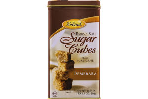 Roland Rough Cut Sugar Cubes Demerara