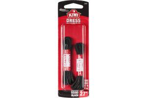 "Kiwi Dress Laces Round Black 27"" - 2 CT"