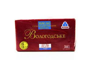 Масло 82,5% Вологодское Рудь 200г