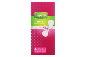 Прокладки Depend liners ultra mini 22шт х6