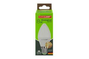 Лампа світлодіодна LED 8W E14 Eurolamp 1шт