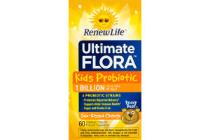 Renew Life Ultimate Flora Kids Probiotic Buddy Bear Sun-Kissed Orange - 60 CT