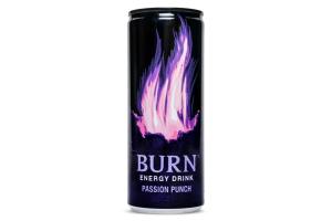 Напій енергетичний безалкогольний сильногазований Passion Punch Burn з/б 250мл