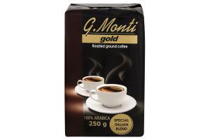 Кава G.Monti Gold 250 г(12) нат/мел вакуум