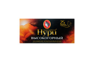 Чай чорний Високогірний Принцеса Нурі пакет 2г.*25шт.