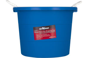 Rough & Rugged Heavy Duty All-Purpose Tub with Comfort-Grip Rope Handle Large