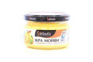 Ікра мойви в соус.з аром. диму № 1 0,18кг Veladis Украина