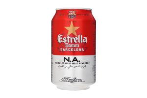 Пиво Estrella Damm Non Alcoholic 0% з/б 0,33л х24