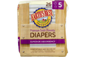Earth's Best Diapers Superior Absorbency Size 5 - 26 CT