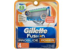 Gillette Fusion Proglide Power Cartridges - 4 CT