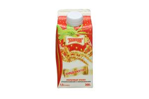 Біфідойогурт 1.5% Полуниця-злаки Злагода п/п 300г