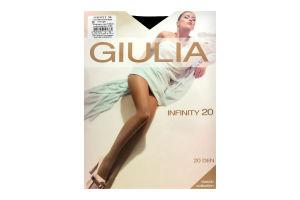 Колготки жіночі Giulia Classic collection Infinity 20den 5-XL nero