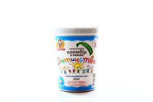 Мороженое Пломбир детства какао Мушкетер плас/ст 250г