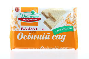 Вафли Осенний сад с фруктозой ЖЛ 80г