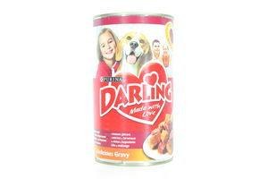 Консерва для собак Мясо Печень Darling 1,2 кг ж/б