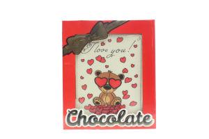 Шоколад Шоколадні чудеса Листівка Ведмедик в сердеч 100г