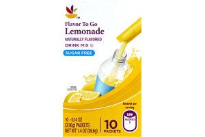 Ahold Flavor To Go Lemonade Sugar Free Drink Mix- 10 CT