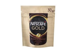 Кава натуральна розчинна сублімована з додаванням натуральної обсмаженої меленої Gold Nescafe д/п 30г
