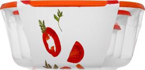 Набор контейнеров Алеана пищевых квадратных 3в1