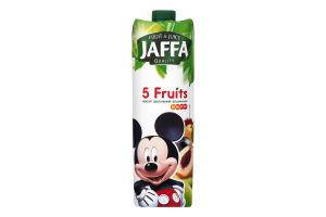 Нектар из смеси фруктов обогащенный витаминами пастеризованный 5 фруктов Jaffa т/п 950мл