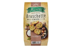 Брускетты хлебные запеченные Mushrooms&cream Maretti м/у 140г