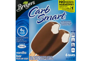 Breyers Carb Smart Vanilla Bar - 6 CT