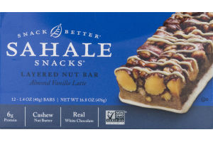 Sahale Snacks Layered Nut Bar Almond Vanilla Latte - 12 CT