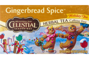 Celestial Seasonings Herbal Tea Caffeine Free Tea Bags Gingerbread Spice - 20 CT