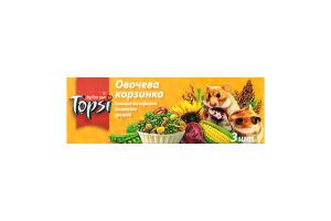 Десерт для грызунов Овощная корзинка Topsi к/у 3х15г