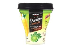 Коктейль йогуртный 5.2% со вкусом лаймово-мятного сорбета Shake&Go Даніссімо ст 260г