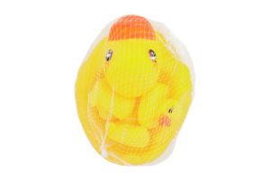 Набор резиновых игрушек с пищалки для купания №P251 Lindo 1шт