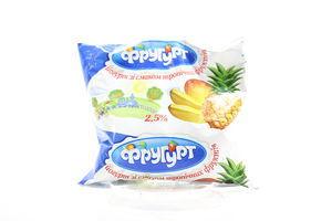 Йогурт 2,5% Фругурт Троп.фрукти п/е 400г