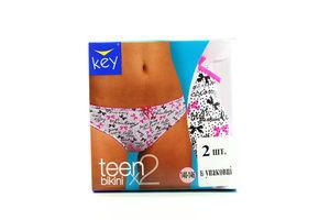 Труси Key teen дів-підлітк. 2шт TPR 053 A5 140-146