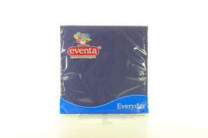 Салфетка столовая синяя Eventa 33*33 20шт