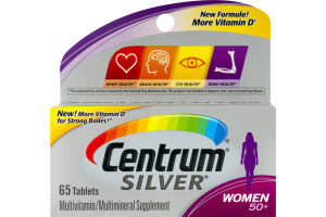Centrum Silver Multivitamin Women 50+ - 65 CT