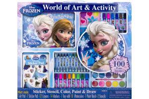 World of Art & Activity Sticker, Stencil, Color, Paint & Draw Disney Frozen