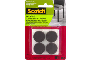 Scotch Felt Pads - 12 CT