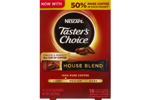 Nescafe Taster's Choice Instant Coffee House Blend - 18 CT