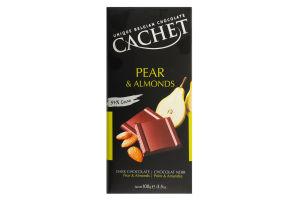 Шоколад Cachet 100г pear&almonds