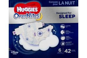 Huggies OverNites Disney Diapers Size 6 - 42 CT