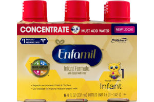 Enfamil Infant Formula Milk-Based With Iron Concentrate - 6 PK
